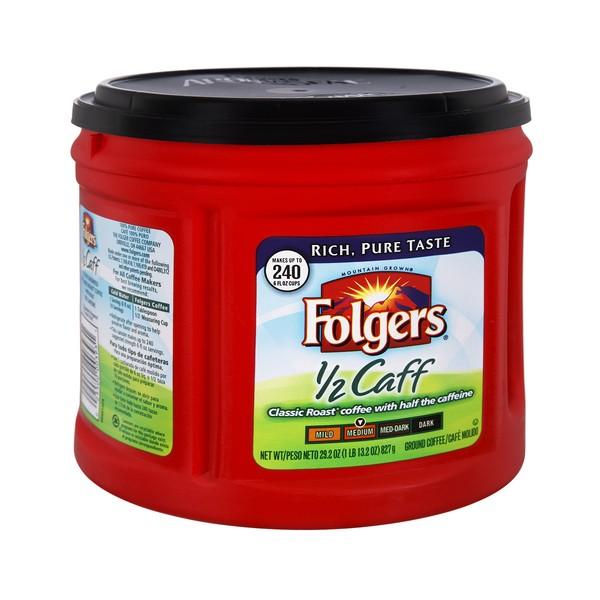 Folgers One Cup Coffee Maker : Folgers Medium Classic Roast Coffee 1/2 Caffeine (Ground)