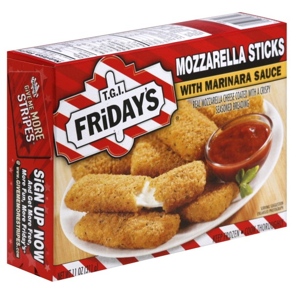 Tgi Friday S Mozzarella Sticks With Marinara Sauce