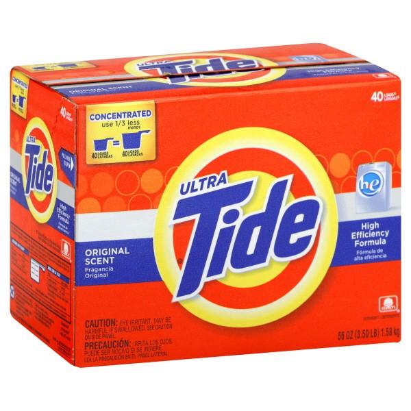 tide he powder laundry detergent he original scent