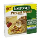 Lean Pockets Pretzel Bread Sandwiches Roast Turkey w/Bacon & Cheese 2ct