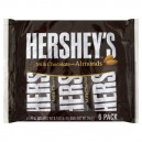 Hershey's Bar Milk Chocolate with Almonds - 6 ct