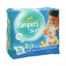Pampers Soft Care Baby Wipes Aloe Unscented Refill - 3 pk