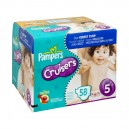 Pampers Custom Fit Cruisers Diapers Size 5 Both Big Pack - 27+ lbs