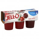 Jell-O Gelatin Cups Sugar Free Cherry & Black Cherry - 6 ct