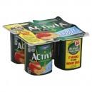 Dannon Activia Light Probiotic Yogurt Peach Fat Free - 4 ct