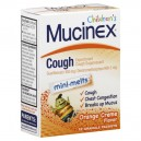 Mucinex Children's Mini-Melts Expectorant Cough Suppressant Orange Creme