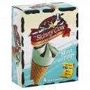 Skinny Cow Ice Cream Cones Mint with Fudge Low Fat - 4 ct