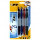 BIC Atlantis Super Smooth Pens Assorted Colors