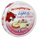 The Laughing Cow Cheese Light Garlic & Herb Flavor Wedges - 8 ct