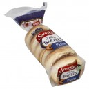 Sara Lee Deluxe Bagels Plain Pre-Sliced - 6 ct
