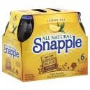 Snapple Iced Tea Lemon Made From Green & Black Tea Leaves - 6 pk