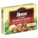 Reese Oysters Smoked Colossal in Cottonseed Oil