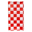 UltraWare Tablecover Plastic Red Checker 54 X 108 Inch