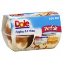 Dole Parfait Fruit Bowls Apples & Creme Low Fat - 4 ct