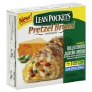 Lean Pockets Pretzel Bread Sandwiches Grilled Chicken Jalepeno Cheddar 2ct