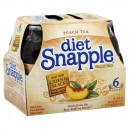 Snapple Iced Tea Peach Diet Made From Green & Black Tea Leaves - 6 pk