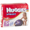 Huggies Snug & Dry Diapers Size 5 Both Jumbo Pack - 27+ lbs