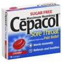 Cepacol Sore Throat Lozenges Maximum Numbing Sugar Free Cherry