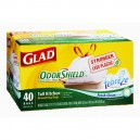 Glad Drawstring Kitchen Bags Tall Odor Shield Fresh Clean Scent 13 Gallon