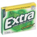Wrigley's Extra Gum Spearmint Sugar Free Slim Pack Single Pack