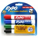Sanford Expo Dry Erase Markers Low Odor Ink Chisel Point Assorted Colors
