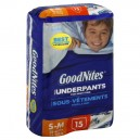 GoodNites Underpants for Nighttime Boys Small - Med - 38-65 lbs