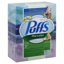 Puffs Plus Lotion Facial Tissue 2-Ply White 124 ct ea - 3 pk