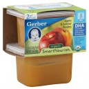 Gerber 2nd Foods SmartNourish DHA Apples & Peaches Organic - 2 pk
