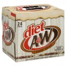 A & W Root Beer Diet - 24 pk