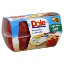 Dole Fruit Gel Bowls Mixed Fruit in Sugar Free Cherry Gel - 4 ct