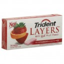 Trident Layers Gum Wild Strawberry + Tangy Citrus Sugar Free Single Pack