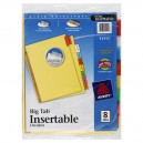 Avery Big Tab Insertable Dividers - 8 Tabs
