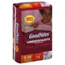GoodNites Underpants for Nighttime Girls Small - Med - 38-65lb