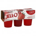 Jell-O Gelatin Cups Strawberry & Raspberry - 6 ct