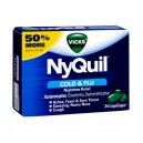 Vicks NyQuil Cold & Flu Relief Multi-Symptom LiquiCaps (No PSE)