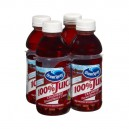 Ocean Spray 100% Cranberry Juice No Sugar Added - 4 pk