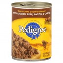 Pedigree Traditional Ground Dinner Wet Dog Food Chunky Beef Bacon & Cheese