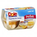 Dole Parfait Fruit Bowls Peaches & Creme Low Fat - 4 ct
