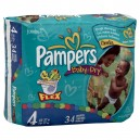Pampers Baby-Dry Diapers Size 4 Both Jumbo Pack - 22-37 lbs