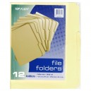 Top Flight File Folders Letter Size 1/3 Cut Manila 12 X 9.5 Inch