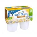 Gerber Graduates Yogurt Blends Snack Banana Vanilla - 4 ct