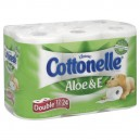 Cottonelle with Aloe & E Bath Tissue Double Roll 1-Ply Unscented