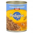 Pedigree Traditional Ground Dinner Wet Puppy Food Chicken & Beef