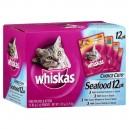 Whiskas Choice Cuts Wet Cat Food Seafood - 12 pk