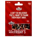 $25 T.G.I. Friday's Gift Card