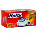 Hefty The Gripper Kitchen Bags with CinchSak Tall 13 Gallon