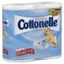 Cottonelle Bath Tissue Double Rolls 1-Ply