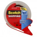 3M Scotch Shipping Tape Heavy Duty with Dispenser .88 X 1965.6 Inch