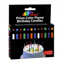 Prism Color Flame Birthday Candles with Holders