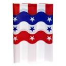 UltraWare Tablecover Plastic Stars & Stripes 54 X 108 Inch